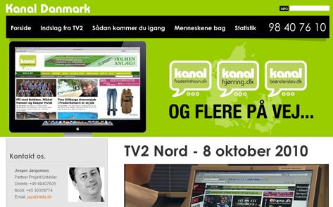 Se indslag på Kanal Danmark omkring lokale medier på nettet.